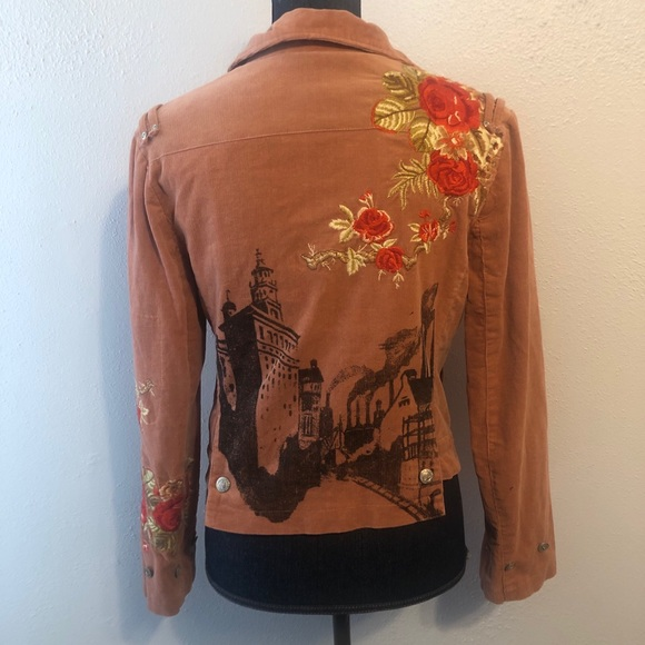 Johnny Was embroidered jacket horse size s